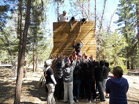 Climbing-Wall-Challenge-Group-Outdoor-Alpine-Meadows-Photo